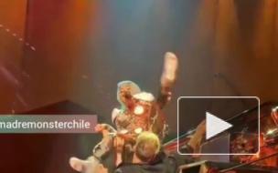 Леди Гага упала во время выступления на концерте