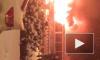 В Сети появилось видео пожара на прогулочном катере
