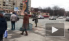 На Луначарского Chevrolet Niva снесла ограждение и вылетела на трамвайные пути