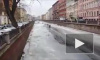 Сумасшедшие мотоциклисты устроили покатушки по льду на канале Грибоедова