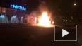 В центре Кемерово дотла выгорел маршрутный ПАЗ