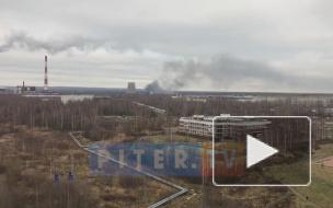 Во Всеволожском районе загорелся склад