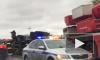 Видео из Москвы: На съезде с ТТК опрокинулась бетономешалка
