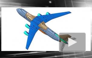 """Модель самолета """"Слон"""" прошла продувочные тесты"""