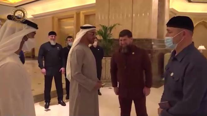Кадыров передал послание от Путина наследному принцу Абу-Даби