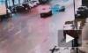 Момент аварии в центре Петербурга попал на видео
