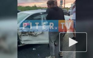 Нетрезвый водитель такси устроил ДТП на проспекте Маршака