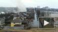 Очевидец снял горящий дом в Домодедово