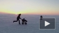 Два человека провалились под лед у парка 300-летия ...