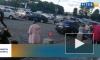 """Видео: в центре Выборга столкнулись легковушка и """"Харлей"""""""