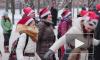 Фитнес-Мороз провел в Петербурге уличную зарядку