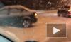 На Выборгском шоссе разбросало три иномарки