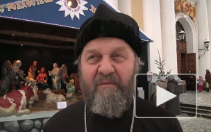 Возрождение традиций. Рождественский вертеп у Владимирского собора