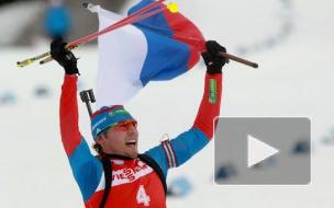 Антон Шипулин выиграл гонку преследования этапа Кубка мира по биатлону в Нове Место
