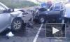 В лобовом ДТП на Сахалине погибли два сотрудника полиции