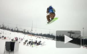 Под Петербургом летали сноуборды, снегоходы и КАМАЗы