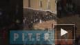 Видео: у арки Главного Штаба сорвало крышу
