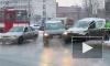 Автомобиль курьерской службы попал в ДТП на Бухарестской улице