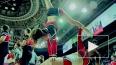 Юные черлидерши показали петербуржцам задорное шоу