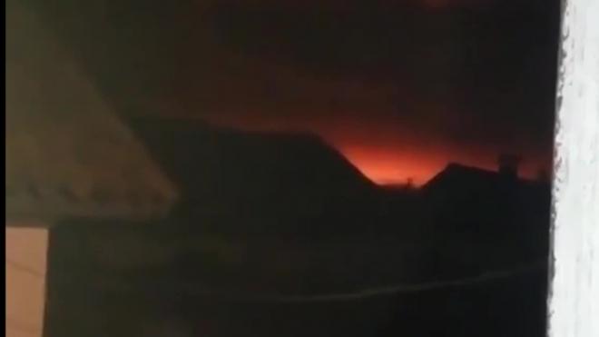Видео из Украины: В Черниговской области взорвался склад боеприпасов