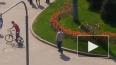 На Светлановской площади велосипедист зацепил машину ...
