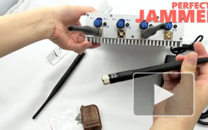 Desktop Mobile Phone Jammer Power Adjustable 4 Bands