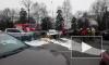 Видео: водитель Audi столкнулся с 12 машинами на Выборгском шоссе