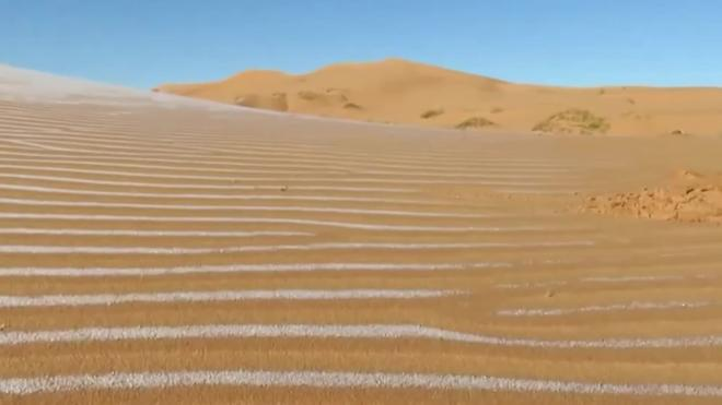 В пустыне на территории Алжира и Марокко выпал снег
