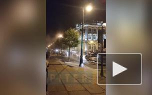 На видео попал побег двух мигрантов с места аварии на Дворцовой набережной