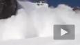 Опубликовано видео момента схода снежной лавины на ...
