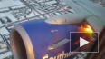 Видео из США: У пассажирского самолета в небе загорелся ...