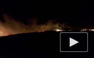 Под Феодосией произошел сильный пожар на площади 45 га
