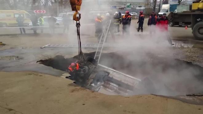 В Пензе сварились заживо два человека в машине, которая провалилась в яму с кипятком