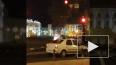 Пьяный петербуржец сжег свою машину на Дворцовой площади