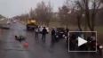 Страшное видео из Волгограда: автокран переехал мотоцикл...