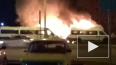На проспекте Энергетиков ночью горели бывшие маршрутки