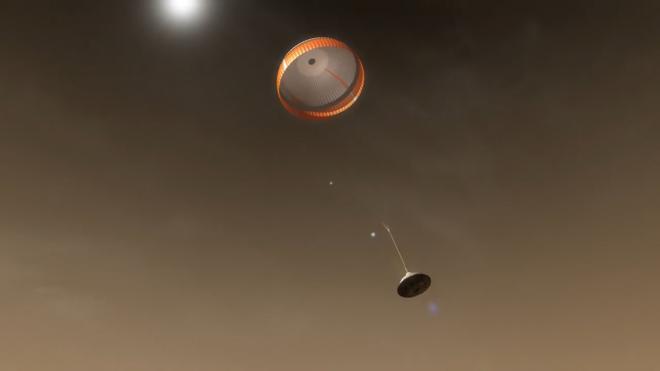 NASA показало, как Perseverance будет садиться на Марс