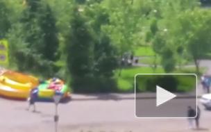 Под Ярославлем полуторагодовалую девочку выкинуло с батута на проезжую часть
