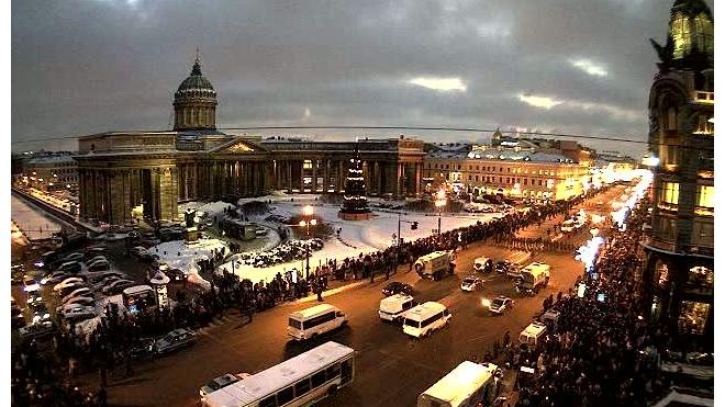 Как Дед Мороз ехал по центру города