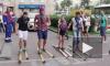 Биатлонисты в жару обули петербуржцев в лыжи