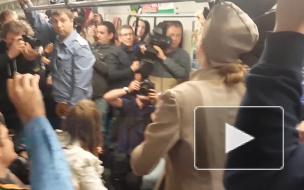 Голландские актеры в метро