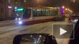 На Среднеохтинском проспекта трамвай сошел с рельсов ...