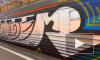 В Петербурге полиция задержала граффитистов, которые рисовали на вагонах электрички