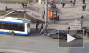 """На Гражданском проспекте водителю Лады не удалось """"сдернуть"""" ее троллейбусом"""
