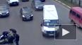 Видео из Рязани: легковушка сбила мотоцикл