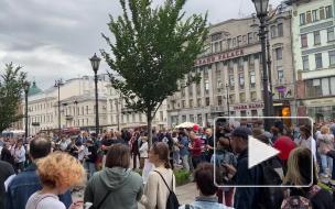 Акция в поддержку Белоруссии, Куштау и Хабаровска в Петербурге прошла без задержаний