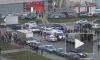 Видео из Москвы: Внедорожник вылетел на тротуар и сбил 3 человек