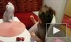 Маленькая Стефанка красить ногти маникюр