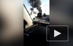В Москве на МКАД загорелась легковушка
