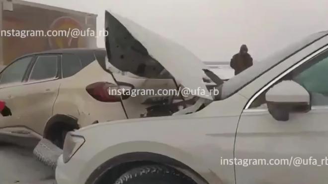 На трассе в Башкирии столкнулись 39 автомобилей